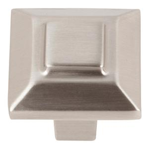 Trocadero Small Square Knob 1 Inch - Brushed Nickel Product Image