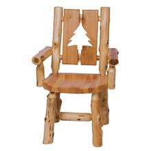 Cut-out Arm Chair - Bear - Natural Cedar - Wood Seat