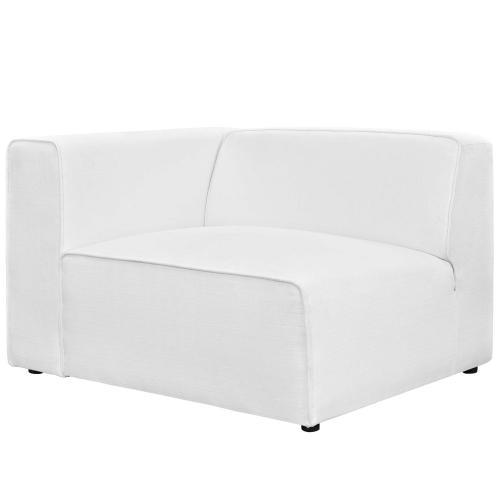 Mingle 7 Piece Upholstered Fabric Sectional Sofa Set in White