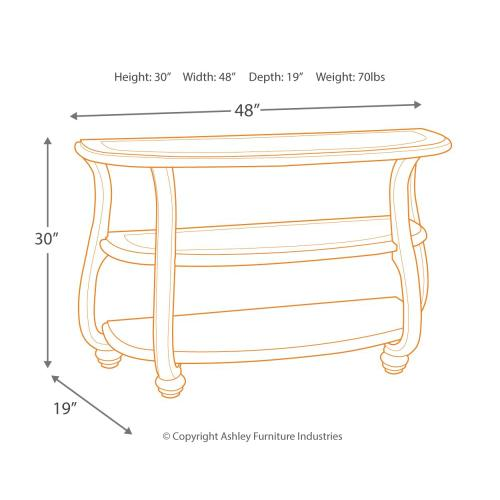 Coralayne Sofa/console Table