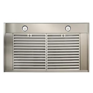 Ispira 36-in. 650 Max CFM Stainless Steel Chimney Range Hood with PURLED Light System and White Glass