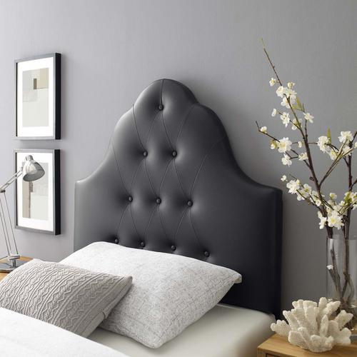 Modway - Sovereign Twin Upholstered Vinyl Headboard in Black