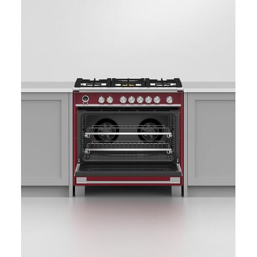 """Product Image - Dual Fuel Range, 36"""", 5 Burners, Self-cleaning"""