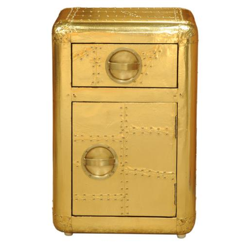 Aviation Door Chest Gold
