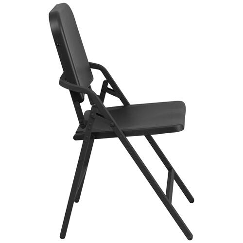 HERCULES Series Black High Density Folding Melody Band\/Music Chair