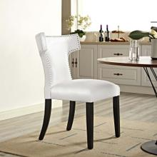 Curve Vinyl Dining Chair in White