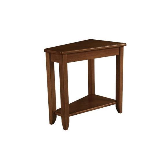 WEDGE CHAIRSIDE TABLE-OAK