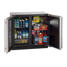 "Stainless Right-hand Modular 3000 Series / 18"" Glass Door Refrigerator / Single Zone Convection Cooling System"