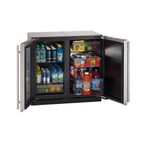 """Stainless Left-hand, lock model Modular 3000 Series / 18"""" Glass Door Refrigerator / Single Zone Convection Cooling System"""