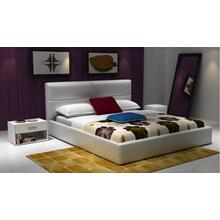 Modrest D533 Modern White Bonded Leather Bed