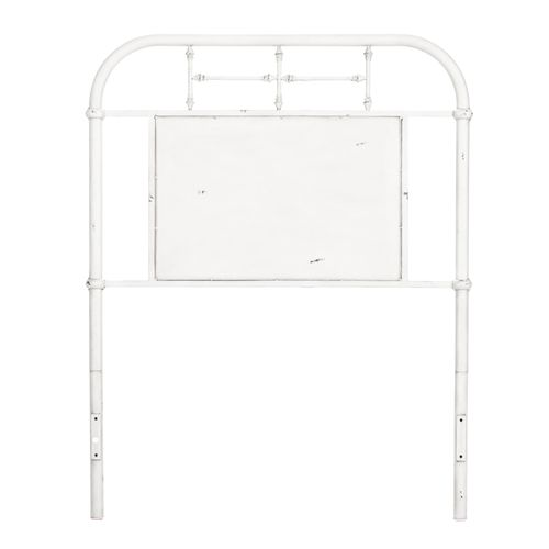 Twin Metal Headboard - Antique White