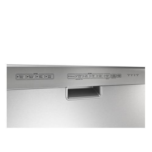 KitchenAid® 24-Inch 4-Cycle/6-Option Dishwasher, Pocket Handle - Black