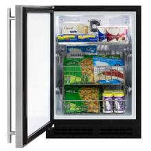 24-In Built-In All Freezer with Door Style - Stainless Steel, Door Swing - Left