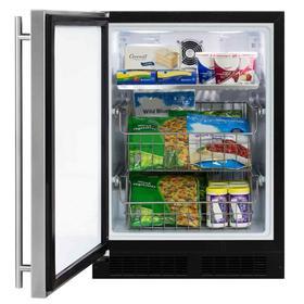 24-In Built-In All Freezer with Door Style - Stainless Steel, Door Swing - Left