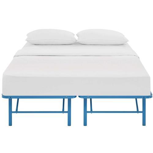Horizon Full Stainless Steel Bed Frame in Light Blue