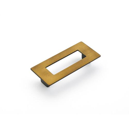 Finestrino, Pull, Rectangle, Burnished Bronze, 96 mm cc