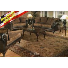 San Marino 2-Tone Chocolate Microfiber Sofa & Loveseat Made in USA