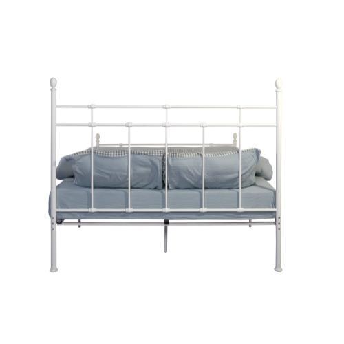 Emerald Home Alexandria Metal Bed White B204-10hbfbrwht