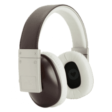 Stylish over-ear headphones. in Brown
