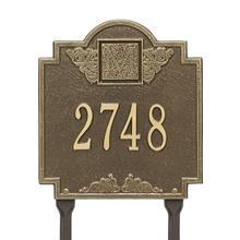 Monogram - Standard Lawn - One Line - Antique Brass