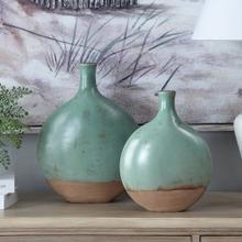Dunleaf Oval Vases,Set of 2