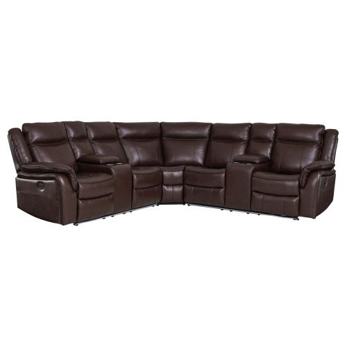 Gallery - Levin Cocoa 3-Piece Power Reclining Sectional