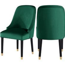 """Omni Velvet Dining Chair - 25"""" W x 22"""" D x 39.5"""" H"""