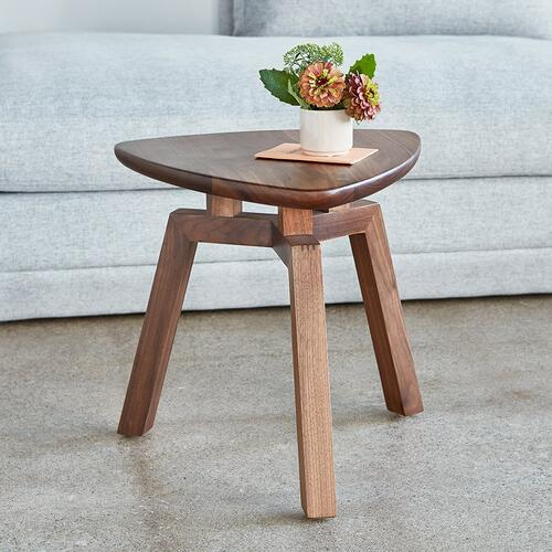 Product Image - Solana Triangular End Table New Walnut