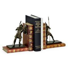 Pair of Antique Dark Bronze Roman Gladiator Bookends