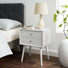 See Details - Ember Wood Nightstand With USB Ports in White White