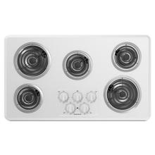 36-inch Electric Cooktop with 5 Elements - white