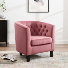 Prospect Performance Velvet Armchair in Dusty Rose