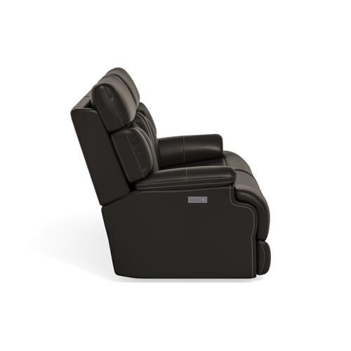 Flexsteel - Clive Power Reclining Loveseat with Power Headrests and Lumbar