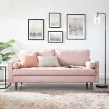 Valour Performance Velvet Sofa in Pink