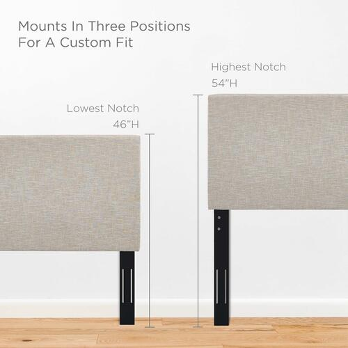 Modway - Taylor Twin Upholstered Linen Fabric Headboard in Beige