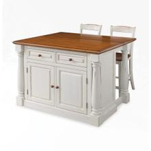 Monarch 3 Piece Kitchen Island Set