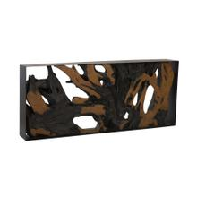 See Details - Cast Root Console Table Iron Frame, Resin, Brown