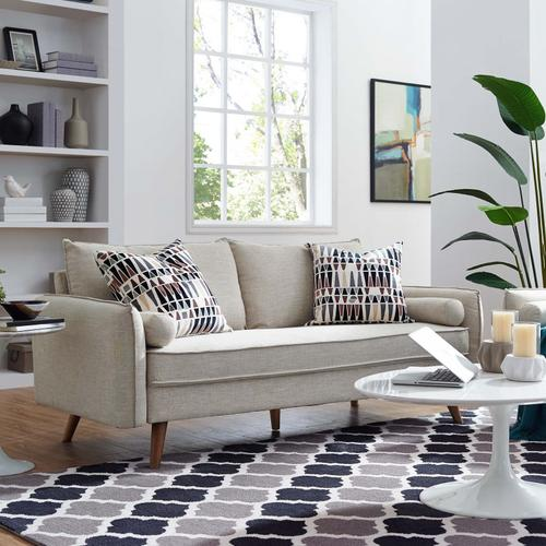 Modway - Revive Upholstered Fabric Sofa in Beige