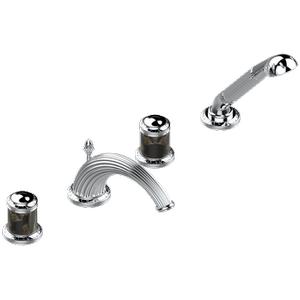 """THG Paris - Roman tub set with diverter spout and handshower, 3/4"""" valves"""