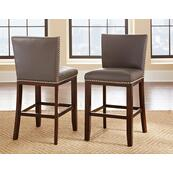 Tiffany Bonded Counter Chair w/Nailhead, Gray