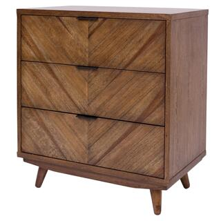 Piero KD Chevron Chest 3 Drawers, Monterey