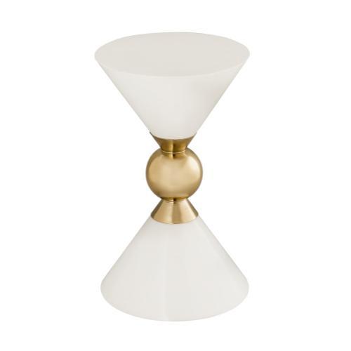 Tov Furniture - Balhi White Side Table
