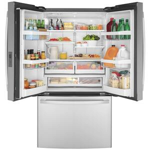 GE® ENERGY STAR® 23.1 Cu. Ft. Counter-Depth Fingerprint Resistant French-Door Refrigerator