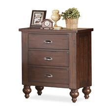 Castlewood Three Drawer Nightstand Warm Tobacco finish