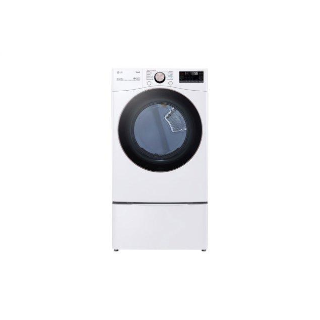 LG Appliances 7.4 cu. ft. Ultra Large Capacity Smart wi-fi Enabled Front Load Electric Dryer with TurboSteam™ and Built-In Intelligence