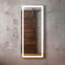Full lenght mirror with light frame for wall installation