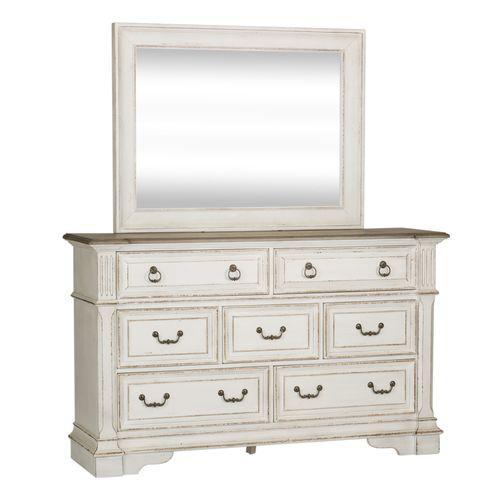 Queen Uph Sleigh Bed, Dresser & Mirror, Night Stand