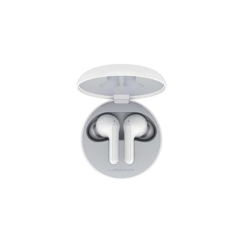 LG TONE Free HBS-FN5W Bluetooth® Wireless Stereo Earbuds with Wireless Charging and Meridian Audio (White)
