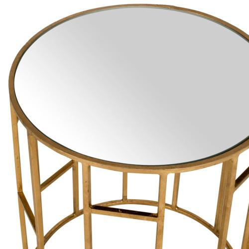 Doreen Mirror Top Accent Table - Gold