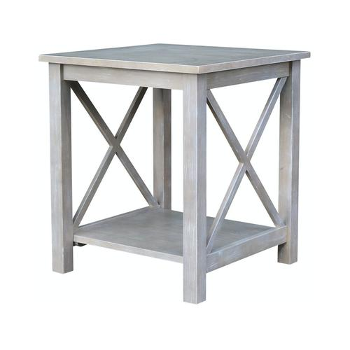 Hampton End Table in Taupe Gray